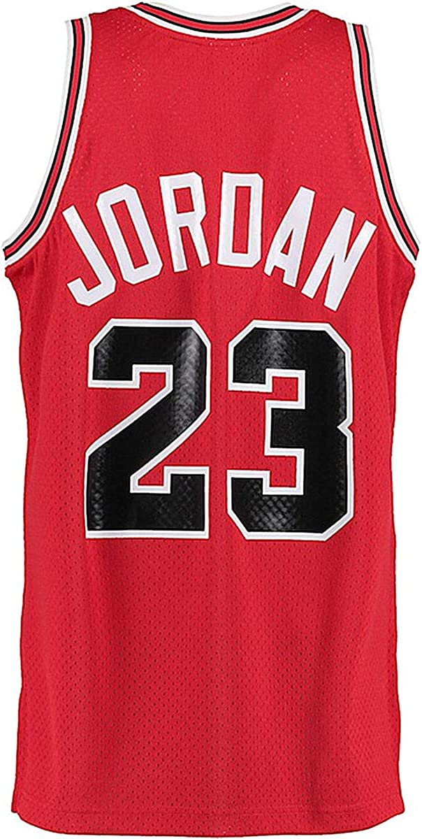Legend Mens 23 Jersey Sports Youth Basketball Jerseys Retro Athletics Boy's Jersey Red(S-XXL)