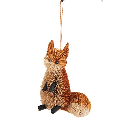 Christmas Tablescape Decor - Buri Fox Hanging Ornament by Gallery II