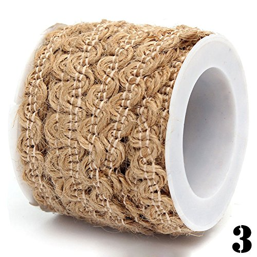 OLIVE US-5M Jute Burlap Braided Hemp Rope String Hessian Ribbon Rope Party Craft - Clothing Different List Styles
