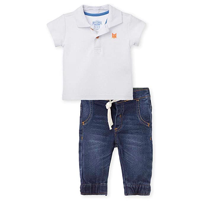 4722eb4f8 OFFCORSS Baby Boy Cutest Cotton Solid Color Polo Shirt Adjustable ...