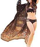 Bsubseach Womens Long Chiffon Beach Blouses Cardigan Kimono Bikini Cover Up