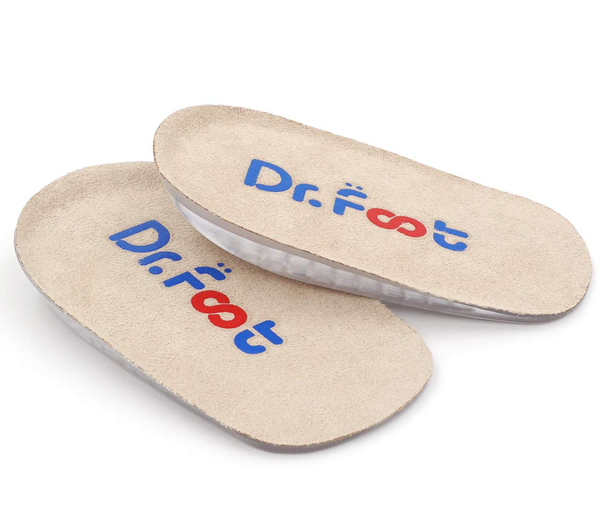 Dr. Foot's Height Increase Insoles, Heel Cushion Inserts, Heel Lift Inserts for Leg Length Discrepancies (Large (0.5