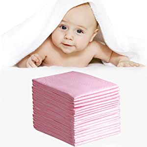 Baby Disposable Changing Pad, 30 Pack, 24×18in, Pet Training and Puppy Pads Pee Pads Portable Diaper Changing Table Pad,Breathable Waterproof Incontinence Pads Underpad(Pink)