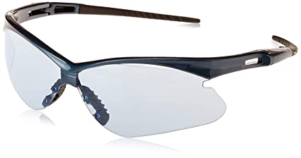 6085f4ba842b Image Unavailable. Image not available for. Color: KIMBERLY-CLARK 19639 Jackson  Safety V30 Nemesis Safety Glasses with Blue Frame and Light Blue