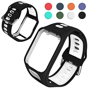 Goglor Watch Strap Replacement for Tomtom Golfer 2 Spark 3 Runner 2 Runner 3 Series, Comfy Wirst Band Professional Porous Design Lagre Watch Strap ...