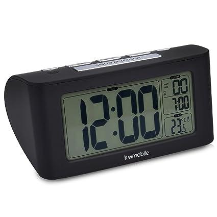 kwmobile Reloj Despertador Digital - Reloj con Temporizador y función de repetición - Indicador de Temperatura
