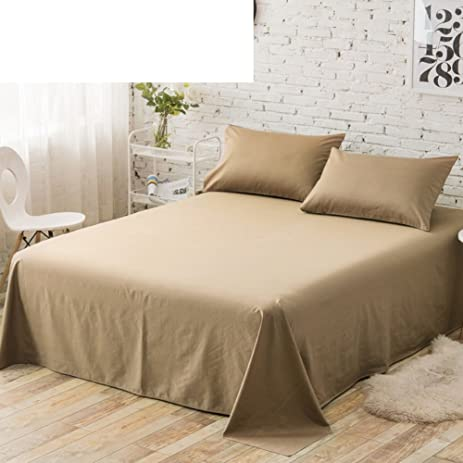 Pure Cotton Twill Bed Sheet Solid Colored Sheets Single Single Bed Sheet  Double Bed Sheet