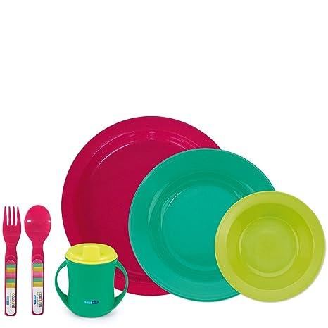 Bebé Due Colours & Flavours - Vajilla de 6 piezas, color colours & flavours