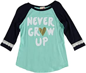 ab882d478d54 Lily Bleu Girls 4-6X Never Grow Up Raglan Tee