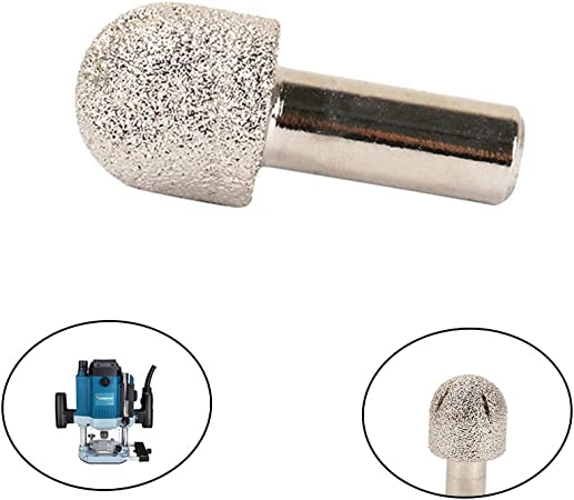 """Vacuum Brazed Diamond Router Bits 1//2/"""" Shank Grinding Rotary Cutter Stone Marble"""