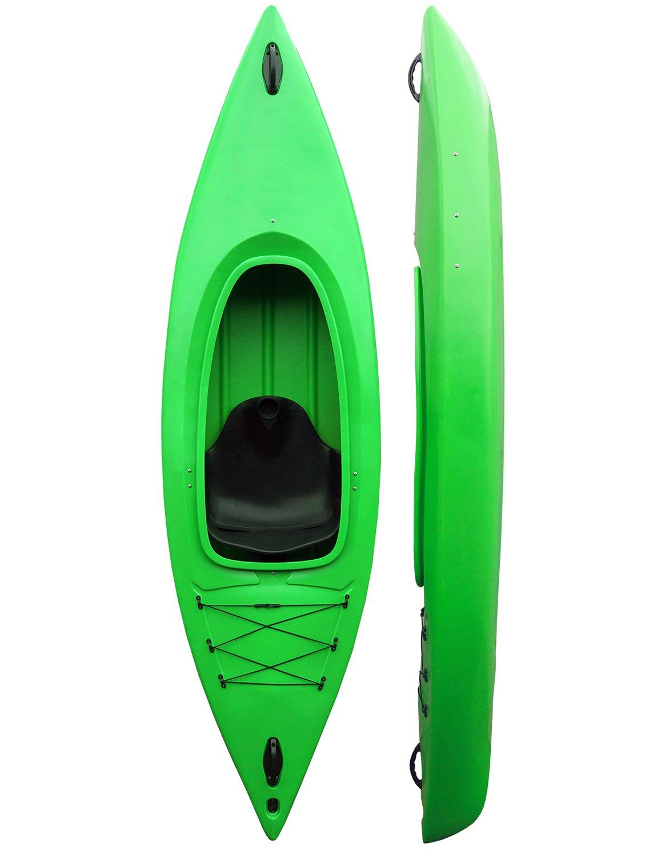 一人の男がカヤックカヌーに座る - 無料スプレーデッキを含む - 292cm / 9.4ft - Green - Riber   B00HTM6RLS