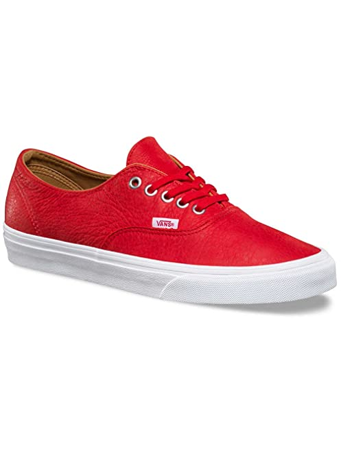 Vans AUTHENTIC DECON Premium Leather Racing Red Womens Shoes (6 Men - 7.5  Women)