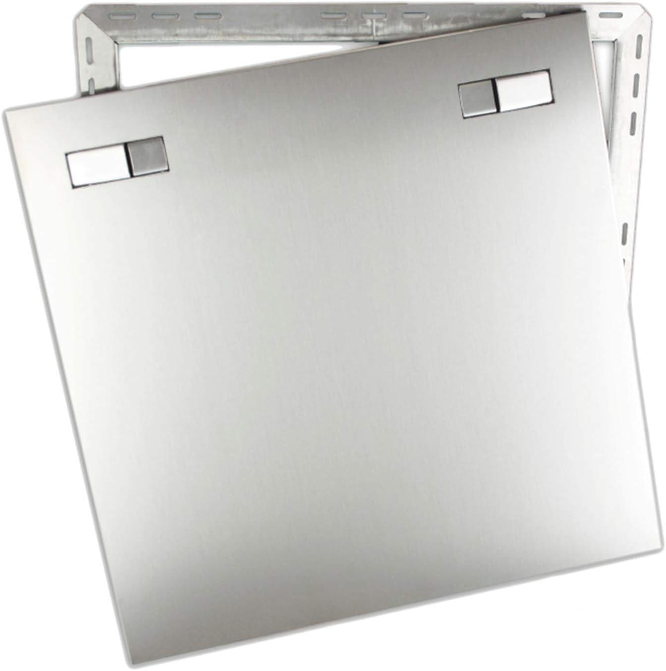 Revisionst/ür Revisionsklappe Wartungsklappe aus Edelstahl mit Einbaurahmen Gr/ö/ße//Durchmesser:500x500mm