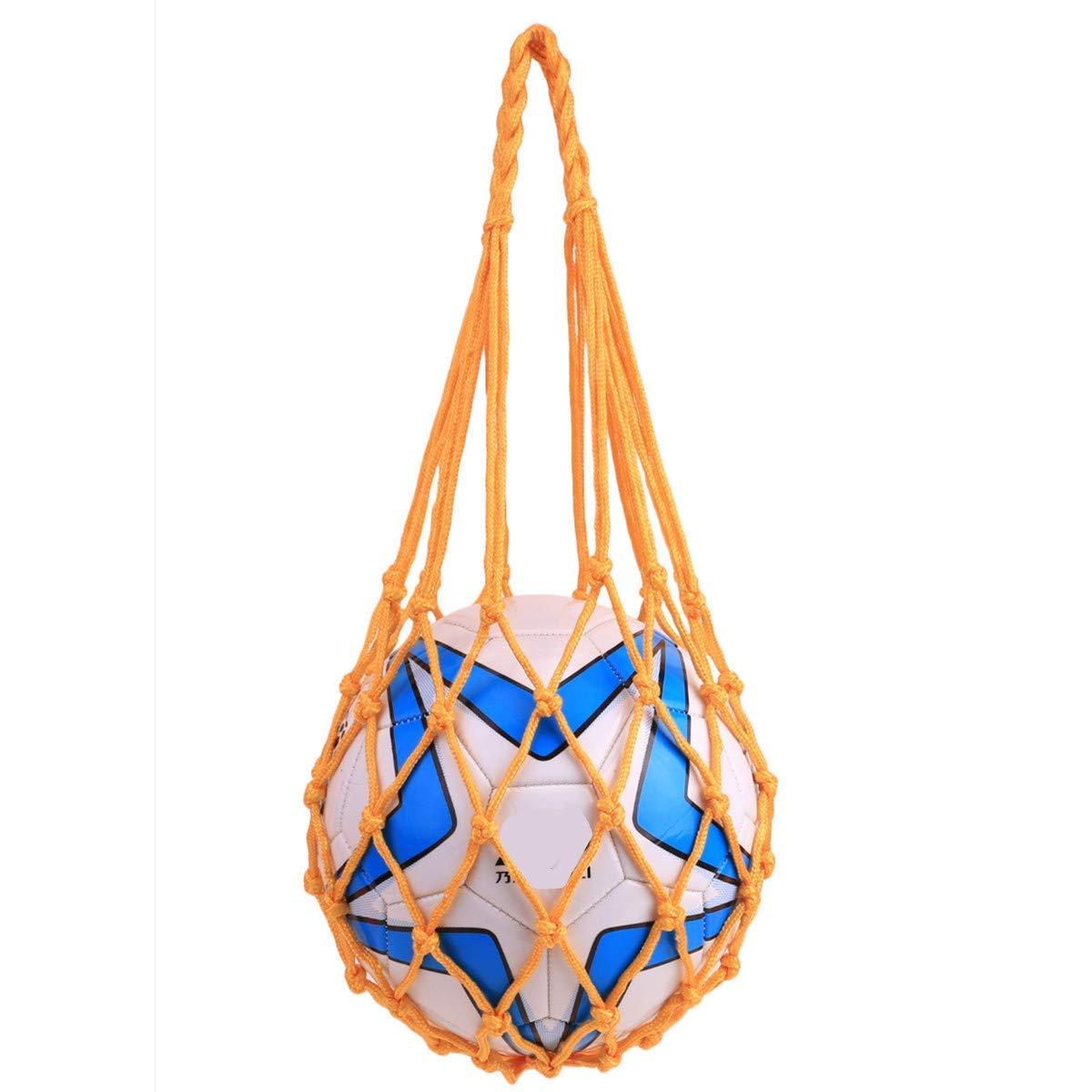 HNJZX Personal Basketball Carry Net Mesh Bag tennis volleyball basketball soccer net pocket with bold handle
