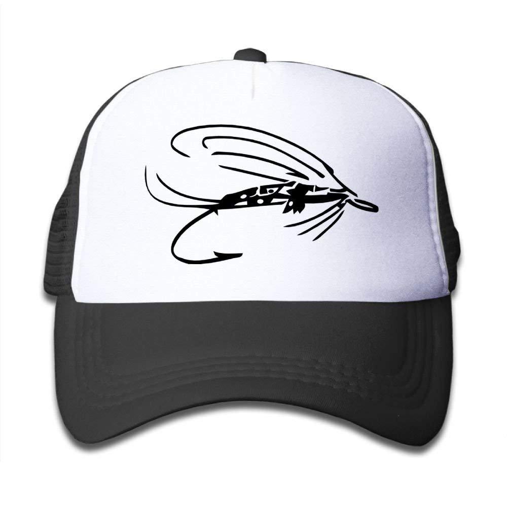 Fly Fishing Lure 1 Kids Cotton Adjustable Mesh Baseball Hats