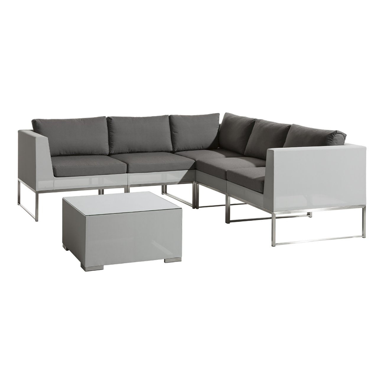 Loungemöbel Outdoor gartenmöbel lounge set outliv tongo gartenlounge 6 tlg edelstahl