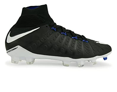 the latest d2f57 01af9 Nike Jr Hypervenom Phantom 3 DF FG BlackWhiteGame Royal Shoes - 4Y