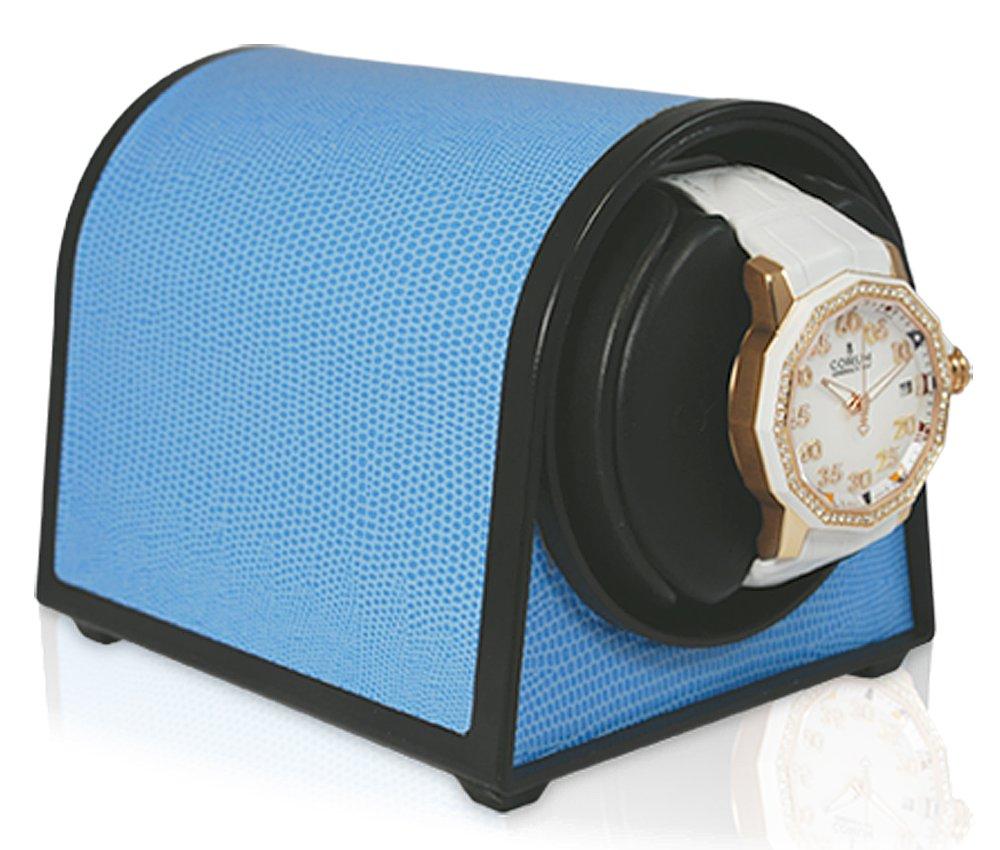 Sparta MINI Watch Winder in Blue Leatherette Orbita Model W05035