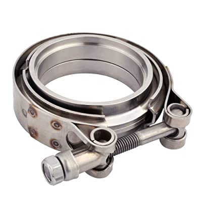 EVIL ENERGY 3 Inch Stainless Steel Exhaust V Band Clamp Male Female Flange: Automotive