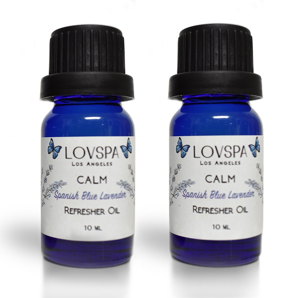 LOVSPA CALM Blue Lavender Potpourri Refresher Oil | Blue Lavender, Clary Sage & Violet Leaf Essential Oils | Relaxing Home Fragrance | Scent your Favorite Dried Flowers! by LOVSPA