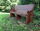 72'' Reclaimed Mahogany Pew - Reclaimed from the prestigious Darlington School in Rome, GA. (Available while supply lasts)