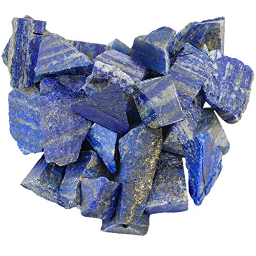 rockcloud 1 lb Natural Crystals Raw Rough Stones for Cabbing,Tumbling,Cutting,Lapidary,Polishing,Reiki Crytsal Healing,Lapis Lazuli