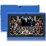 "JINYJIA 7"" Tablet PC, Google Android 4.4 Quad Core, 512MB RAM 8GB ROM, Cámaras Duales, WiFi, Bluetooth, para Niños y Adultos, Azul"