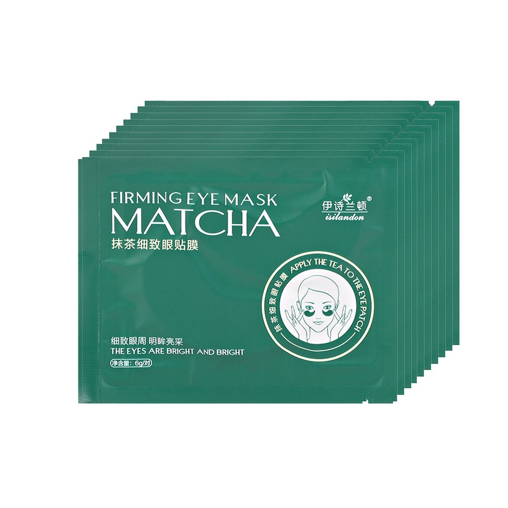 Eye Masks Green Tea Hydrating Moisturizing Eyes Patches Pads for Dark Circles Fading Fine Lines Firming Skin 10pairs Sonew