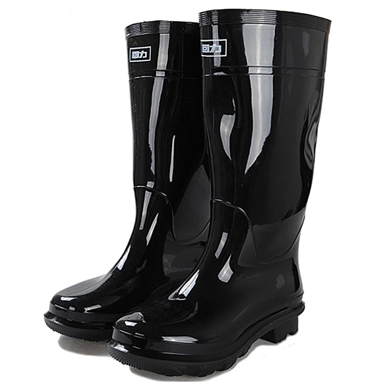 uBeauty Wasserdichte Rutschfeste Regenstiefel Unisex-Stiefel Alle Jahreszeiten Boots Große Stiefel Gummistiefel Schwarz 42 EU DMk60