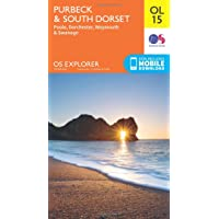 OS Explorer OL15 Purbeck and South Dorset, Poole, Dorchester, Weymouth & Swanage (OS Explorer Map)