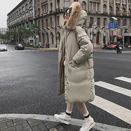 Jacket Section The Winter Collar Of Knee Harajuku Thickening Over Cotton Coat Long In Female Black Xuanku Cotton The Jacket 1097 Hooded U1zn5PS