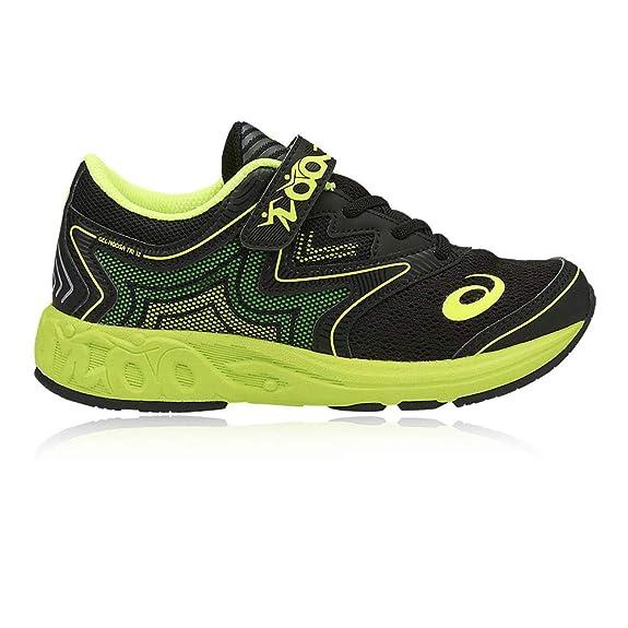 cf7c03d217f09 SNEAKERS ASICS GEL noosa PS gel NYLON NERO VERDE FLUO  Amazon.es  Zapatos y  complementos