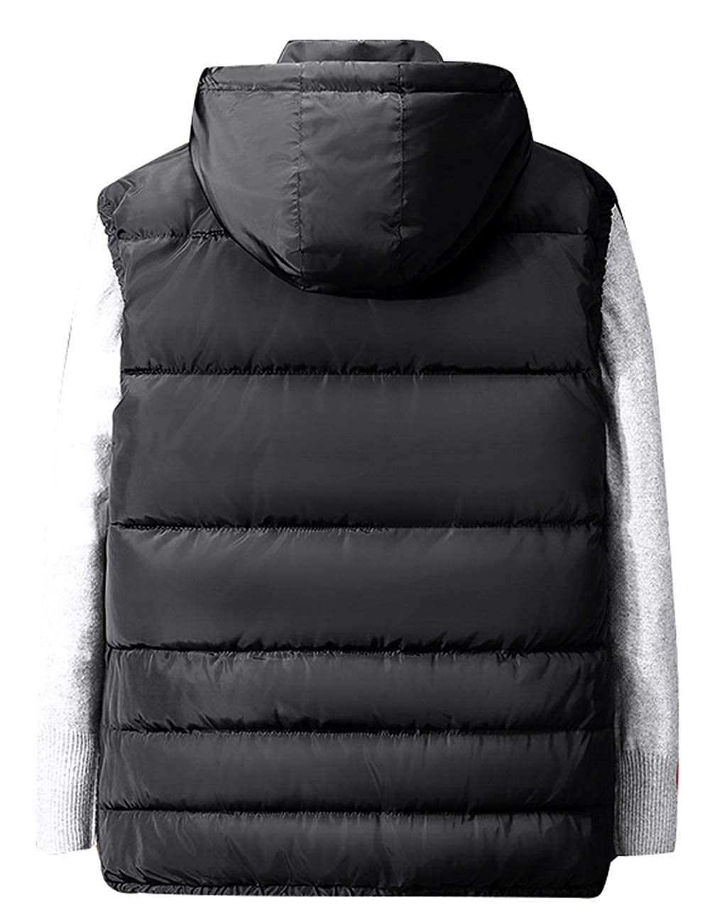 Zoulee Mens Stylish Padded Body Warmer Vest Hooded Down Vest Removable 06Zoulee1468