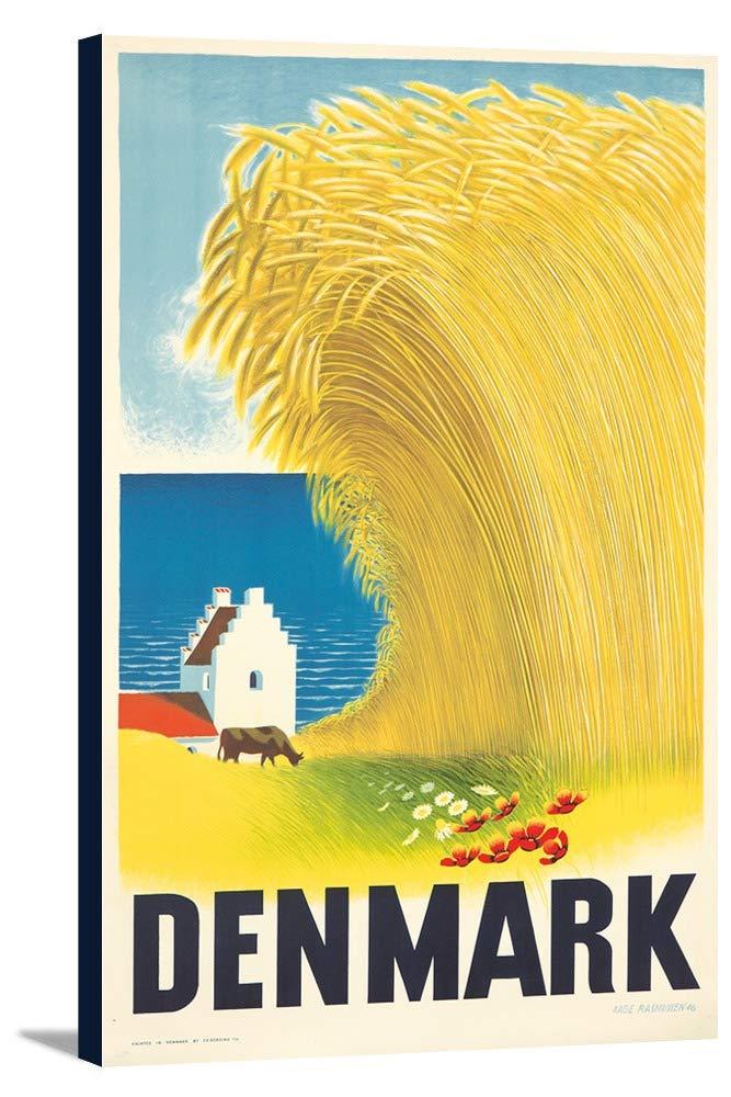 デンマークヴィンテージポスター(アーティスト: Rasmussen )デンマークC。1946 11 1/2 x 18 Gallery Canvas LANT-3P-SC-74180-12x18 B01DZ237HC  11 1/2 x 18 Gallery Canvas