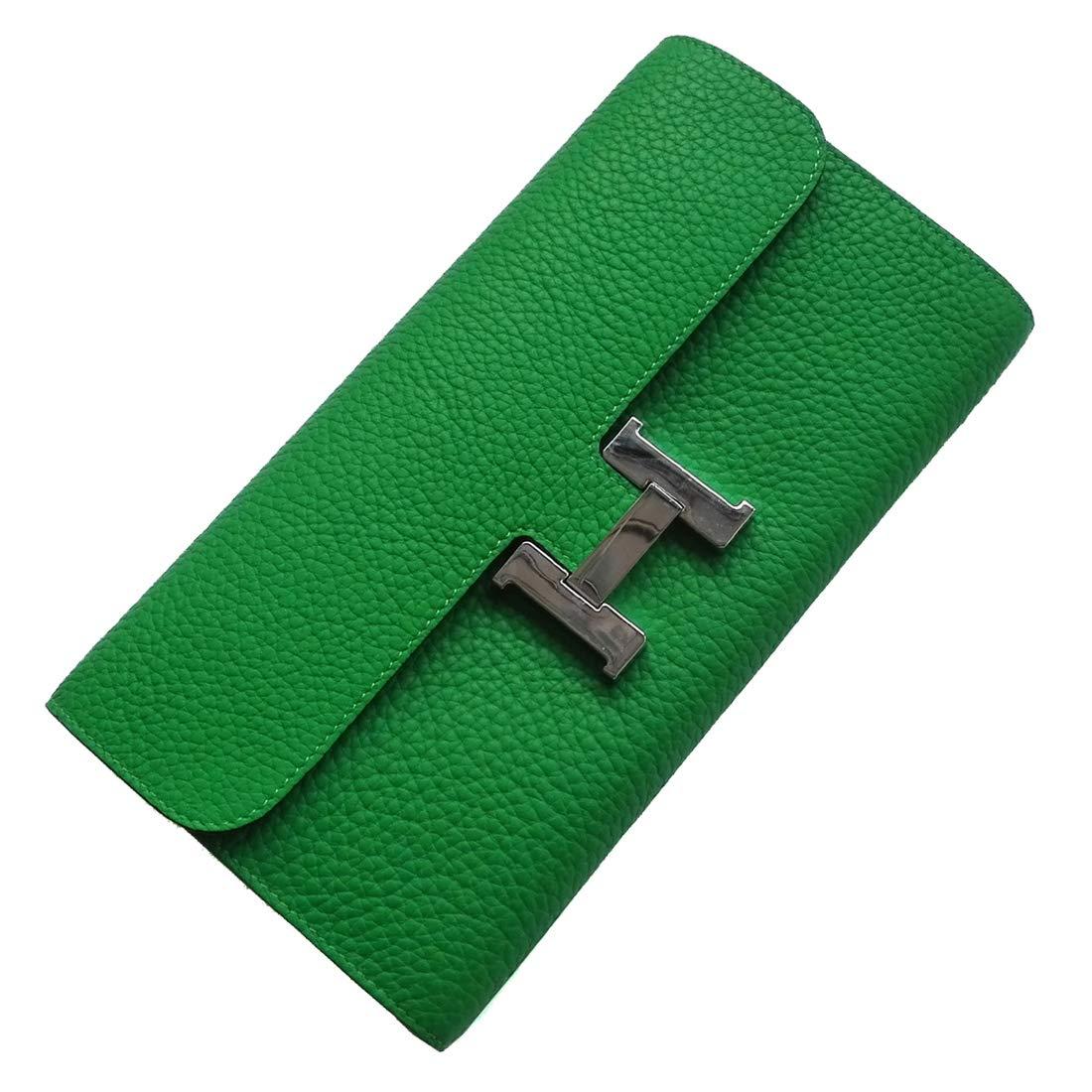 F.BLUE Cowhide Women 's Long Wallet Envelope Package FB022 (Green)