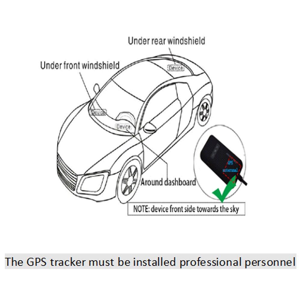 Likorlove GPS Tracker, Auto Motorrad Fahrzeug LKW Real Zeit Lokator GPS/GSM / GPRS/SMS 13268125