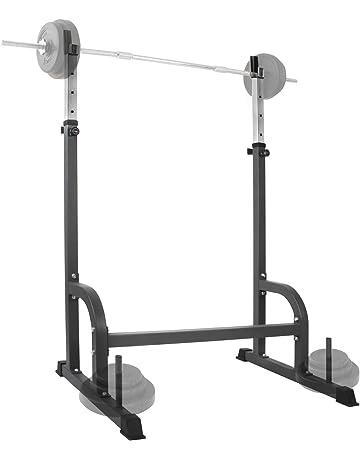 Physionics - Soporte estante ajustable para barra y pesas - carga máxima de aprox. 150