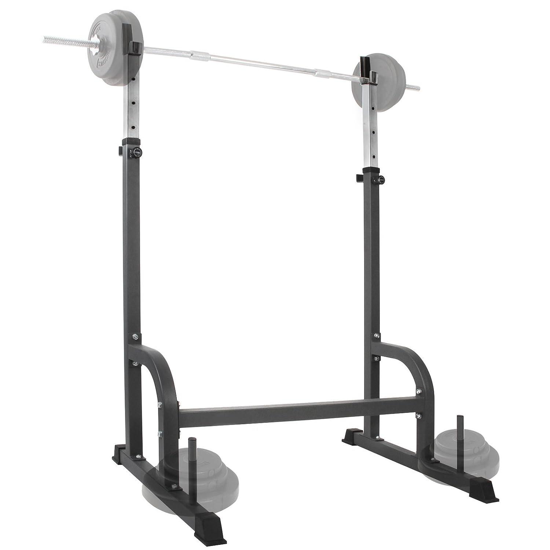 Physionics - Soporte estante ajustable para barra y pesas - carga máxima de aprox.