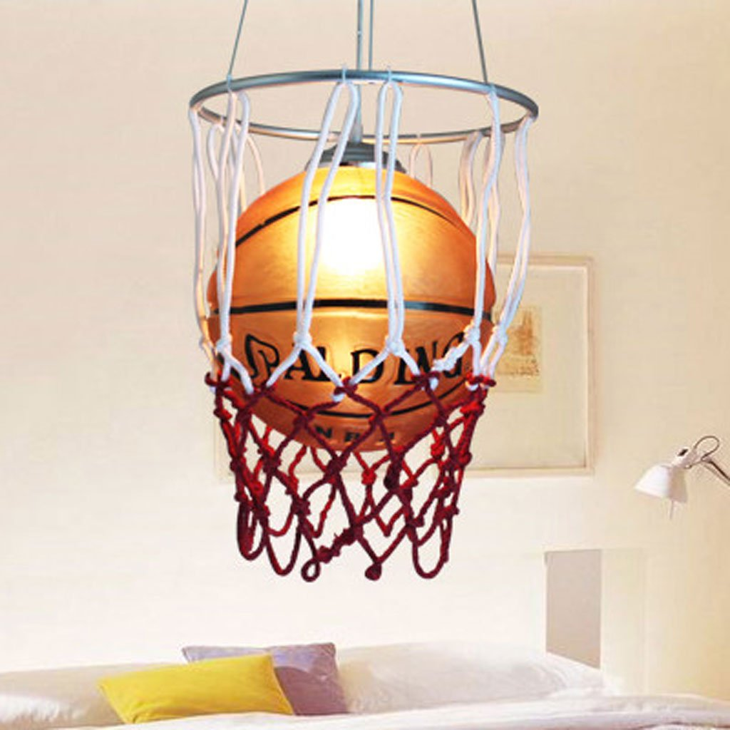 Denuo Lamps Children 's Room Chandeliers LED Children' S Room Basketball Chandeliers Cartoon Basketball Lighting Glass Bar Chandeliers