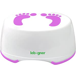 Child Step Stool by Lebogner - Comfortable Anti-Slip Foot Stool Perfect for Toddler Toilet Training Or Kids Bathroom for Brushing Teeth Or Washing Hands, Purple Stepping Stool for Boys and Girls