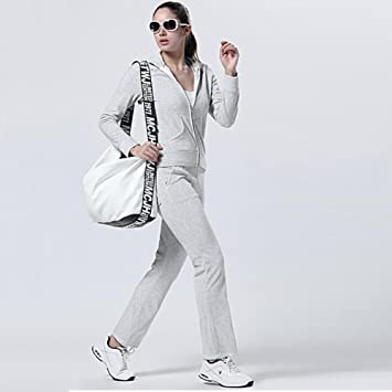 Pijama y pantalón de chándal de mujer Set de dos piezas de traje completo para mujer