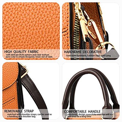 Cross Handle Faux Women's Top Leather Yellow Bags Handbags Shoulder Bags Body Bags zqF4d