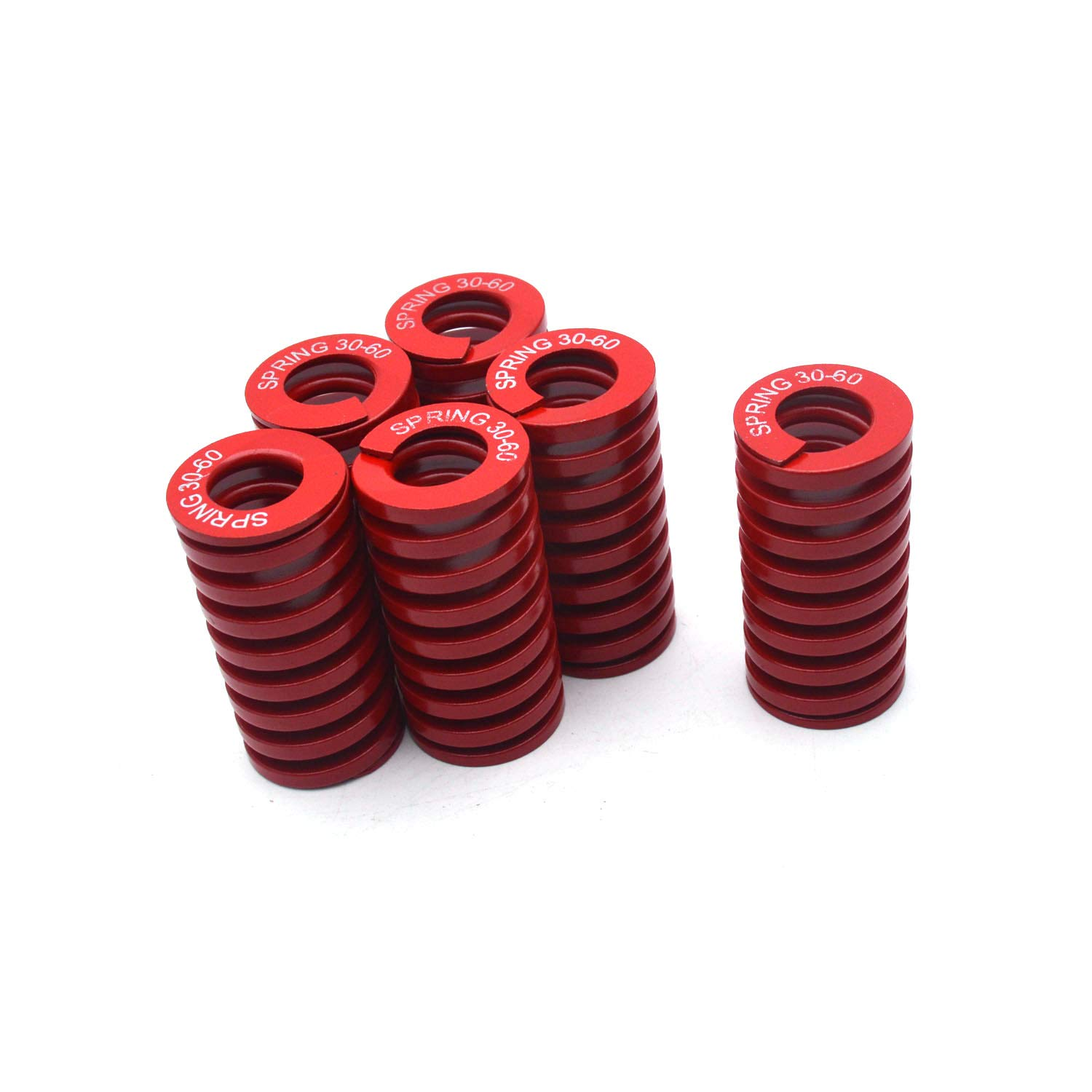 Antrader 6-Pack Red Medium Load Press Compression Mould Die Spring 1.15-Inch-by-0.63-Inch-by-2.36-Inch
