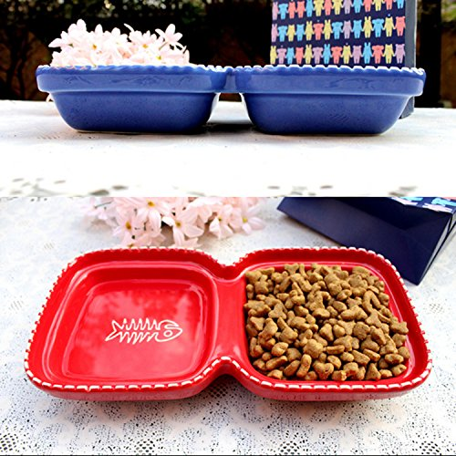 Double Integral Type Ceramic Pet Bowl Bowl for Cats Upgraded Large Dog Food Water Bowl for Dogs Eco-friendly Dog Feeder - Integral Ceramic