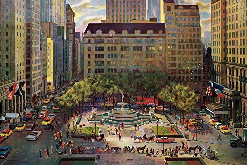 - Marmont Hill Vintage-Americana 'Fifth Avenue 2' Canvas Wall Art, 18
