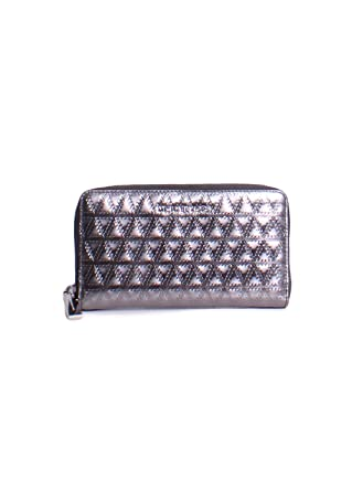 d9b7bb21abb7 Image Unavailable. Image not available for. Color: Michael Kors Jet Set  Metallic Leather ...