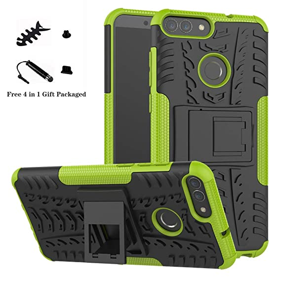best sneakers b0510 ce022 Huawei P Smart case,LiuShan Shockproof Heavy Duty Combo Hybrid Rugged Dual  Layer Grip Cover with Kickstand for Huawei P Smart Smartphone (with 4in1 ...