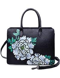 Top Handle Satchel Handbags Designer Floral Purses for Ladies