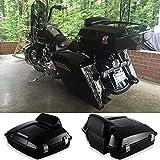 Vivid/Glossy Black Razor Tour Paks Pack Motorcycle Luggag...