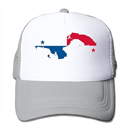 Amazon.com   Panama Map Flag Trucker Caps Mesh Hats With Solid ... 1cfcf898b0ab